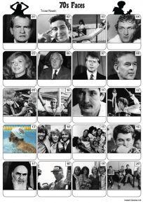 Faces of the 1970s Picture Quiz - PR2214