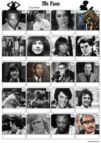 Faces of the 1970s Picture Quiz - PR2215