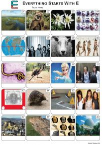 Everything Starts With 'E' Picture Quiz - PR2223
