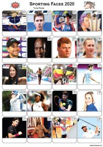 Sporting Faces 2020 Picture Quiz - PR2231
