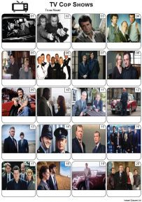TV Cop Shows Picture Quiz - PR2251