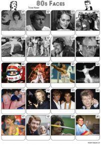 Faces of the 1980s Picture Quiz - PR2254