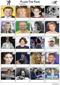 Place The Face Picture Quiz - PR2260