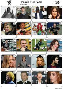 Place The Face Picture Quiz - PR2261