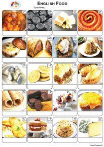 English Food Picture Quiz - PR2262