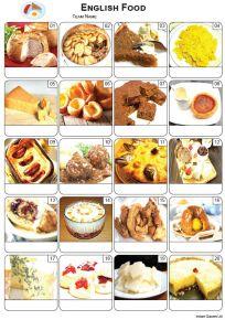 English Food Picture Quiz - PR2263