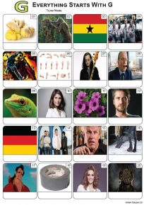 Everything Starts With 'G' Picture Quiz - PR2264