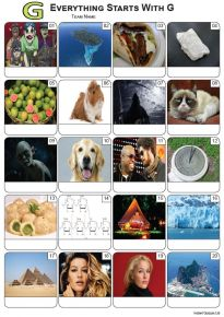 Everything Starts With 'G' Picture Quiz - PR2265