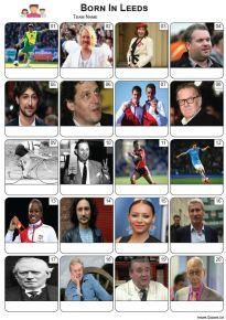 Born In Leeds Picture Quiz - PR2267