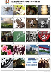 Everything Starts With 'H' Picture Quiz - PR2268