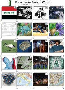 Everything Starts With 'I' Picture Quiz - PR2276