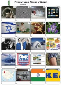 Everything Starts With 'I' Picture Quiz - PR2277