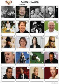 Animal Names Picture Quiz - PR2278
