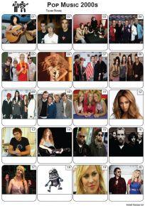 Pop Music of the 2000s - PIcture Quiz PR2281