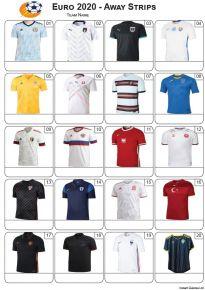 Euro 2020 Away Strips - PIcture Quiz PR2283