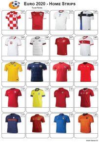 Euro 2020 Home Strips - PIcture Quiz PR2284