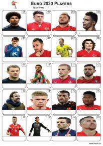 Euro 2020 Players - PIcture Quiz PR2285