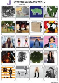 Everything Starts With 'J' Picture Quiz - PR2292