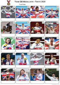 Team GB Medallists Tokyo 2020 Picture Quiz - PR2301