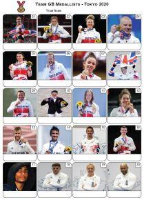 Team GB Medallists Tokyo 2020 Picture Quiz - PR2302