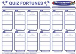 Free Quiz Fortunes Answer Sheets