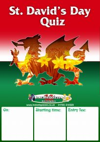 Free Saint David's Day Quiz Poster
