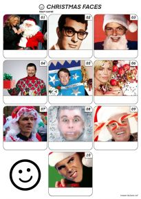 Christmas Faces Z3111