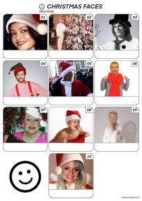 Christmas Faces Z3115