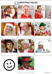 Christmas Faces Z3116