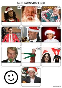Christmas Faces - Z3117