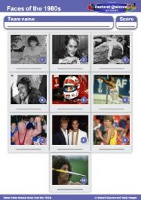 1980s Quiz Pack 1