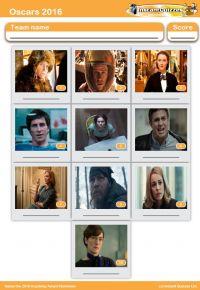 Oscar Nominees 2016 Mini Picture Quiz