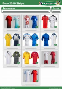 Euro 2016 Strips Mini Picture Round - Z2235
