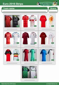 Euro 2016 Strips Mini Picture Round - Z2236