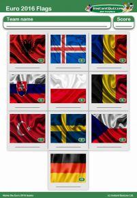 Euro 2016 Flags Mini Picture Round - Z2237