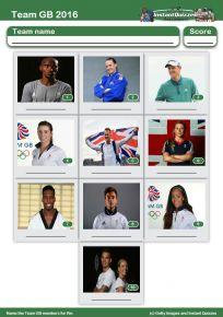 Team GB 2016 Mini Picture Quiz - Z2274