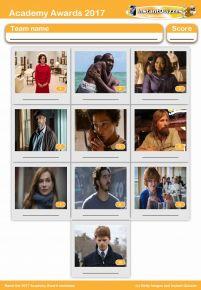 Academy Awards 2017 Mini Picture Quiz - 2017 Oscars - Z2419