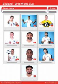 2018 World Cup England Squad Mini Picture Quiz - Z2754