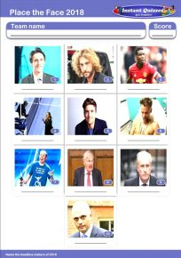 Faces of 2018 Mini Picture Quiz - Z2886