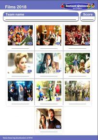 Films of 2018 Mini Picture Quiz - Z2888