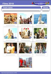 Films of 2018 Mini Picture Quiz - Z2889