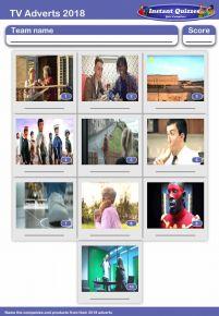 Christmas TV Adverts 2018 Mini Picture Quiz - Z2907