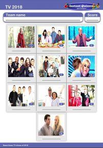 TV of 2018 Mini Picture Quiz - Z2909