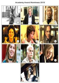 Academy Award Nominees 2019 Mini Picture Quiz - 2019 Oscars - Z2945
