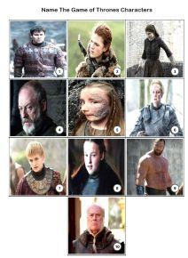 Game of Thrones Quiz Pack 1