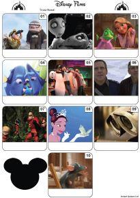 Disney Films Mini Picture Quiz - Z3025