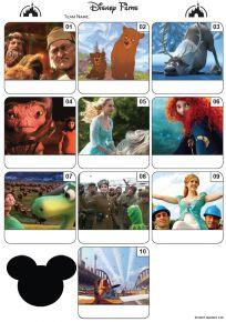 Disney Films Mini Picture Quiz - Z3026