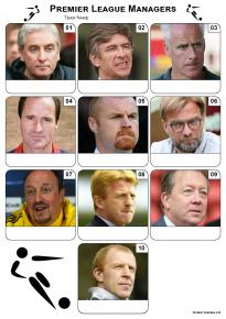 Premier League Managers Mini Picture Quiz - Z3036