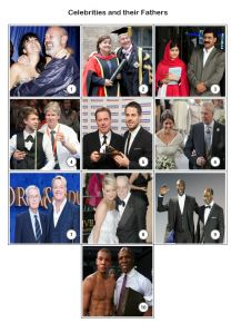 Celebrities and their Dads Mini Picture Quiz - Z3042