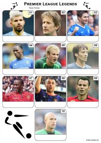 Premier League Football Legends Mini Picture Quiz - Z3045